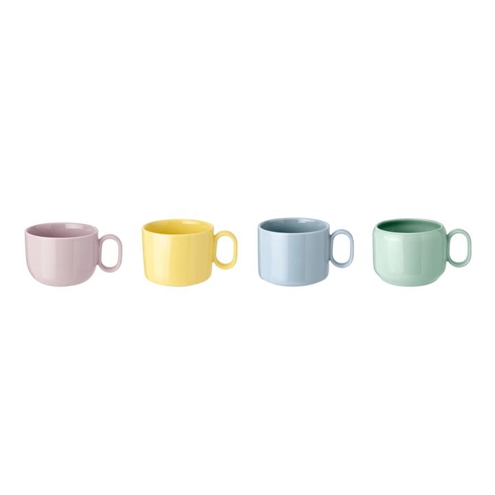 Mix'n'Match Tassen (4er-Set) von Rig-Tig by Stelton in blau / gelb / pink / grün