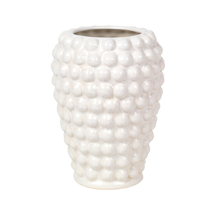 Dotty Vase S, Ø 14 x H 20 cm, ivory von Broste Copenhagen