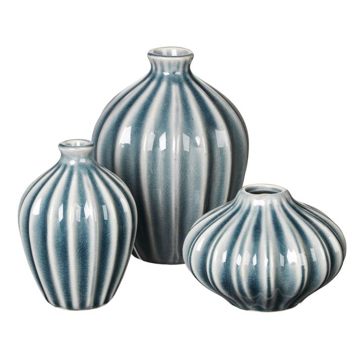 Amalie Vase, blue mirage (3er-Set) von Broste Copenhagen