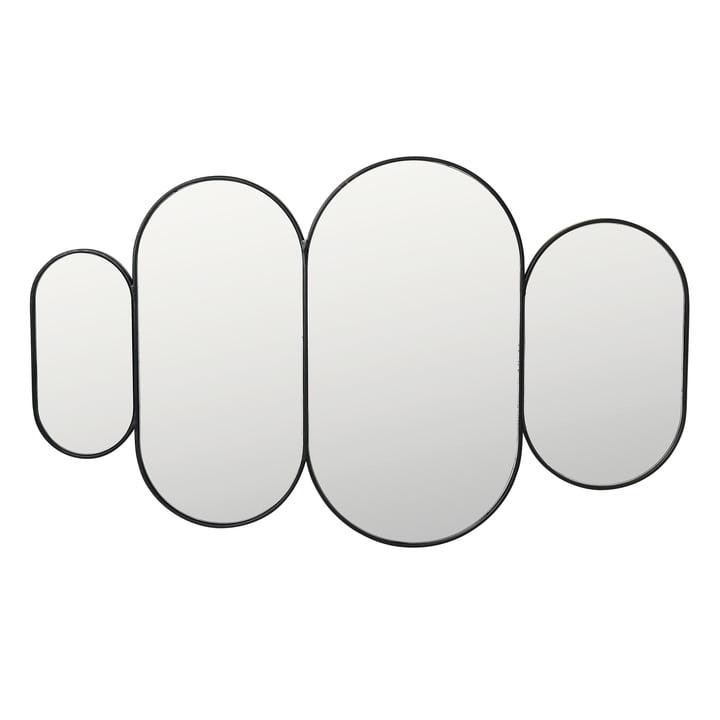 Pelle Spiegel XL, schwarz von Broste Copenhagen