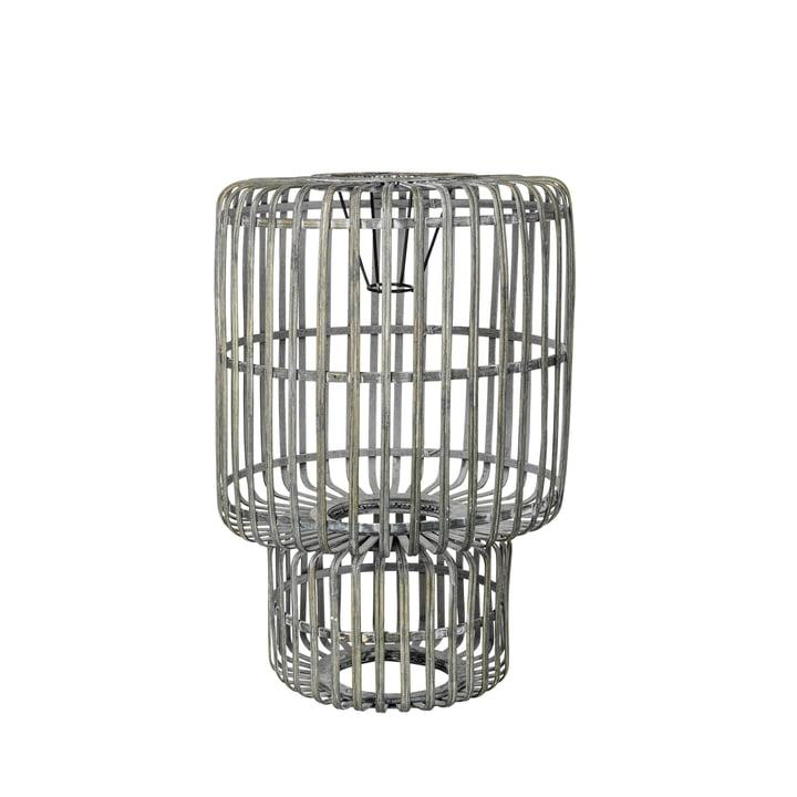 Zelly Bambus-Lampenschirm, Ø 35 x H 50 cm, metallgrau von Broste Copenhagen
