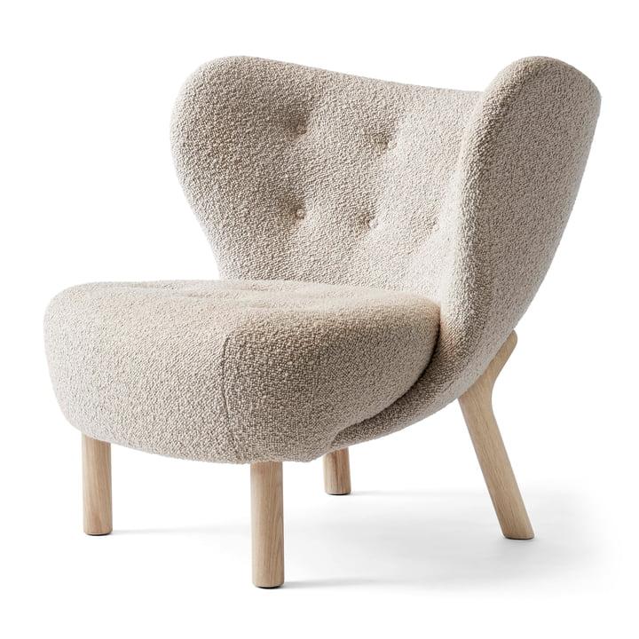 Little Petra VB1 Lounge Chair von &tradition in Eiche weiss geölt / Karakorum 003