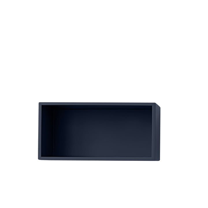 Mini Stacked Regalmodul 2.0, small / midnight blue von Muuto