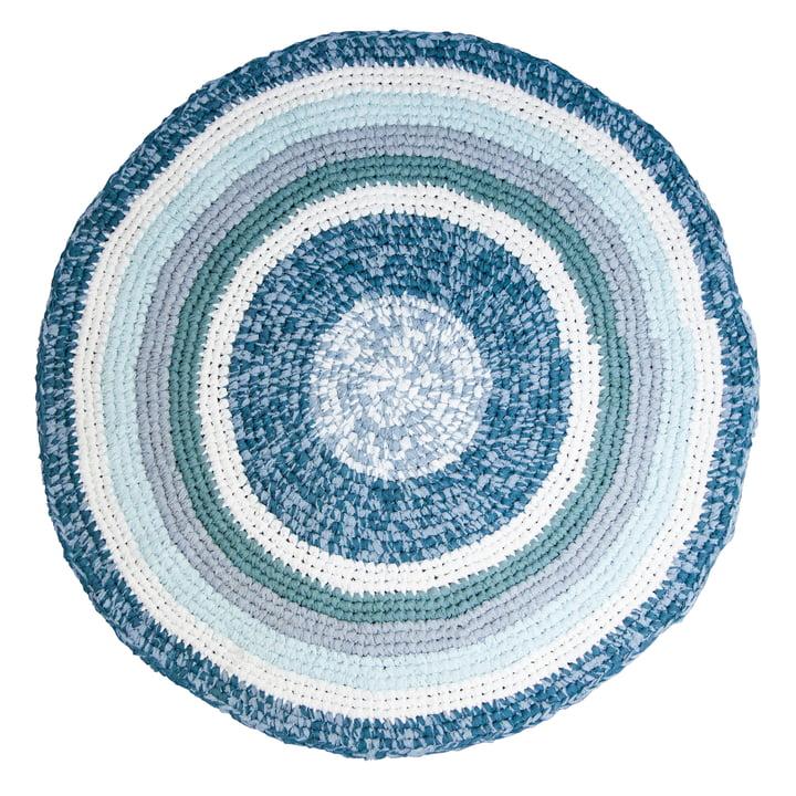 Häkel-Teppich Ø 120 cm von Sebra in dove blue melange