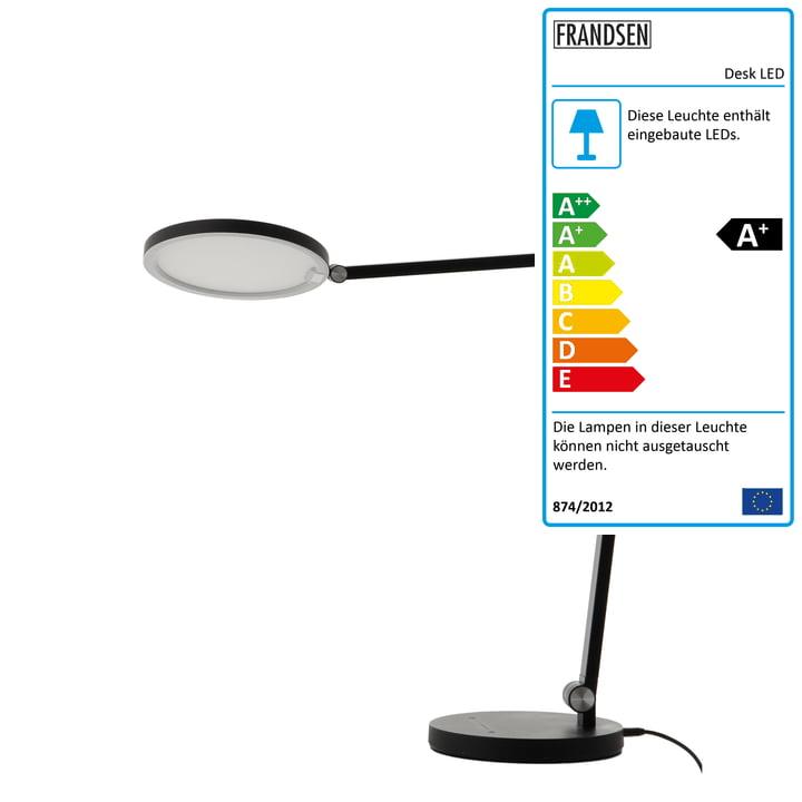 Desk LED Tischleuchte, schwarz matt von Frandsen