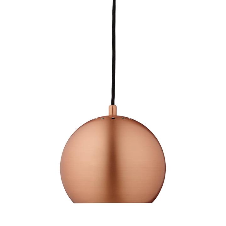 Ball Pendelleuchte Ø 18 cm, Kupfer gebürstet matt / weiss von Frandsen