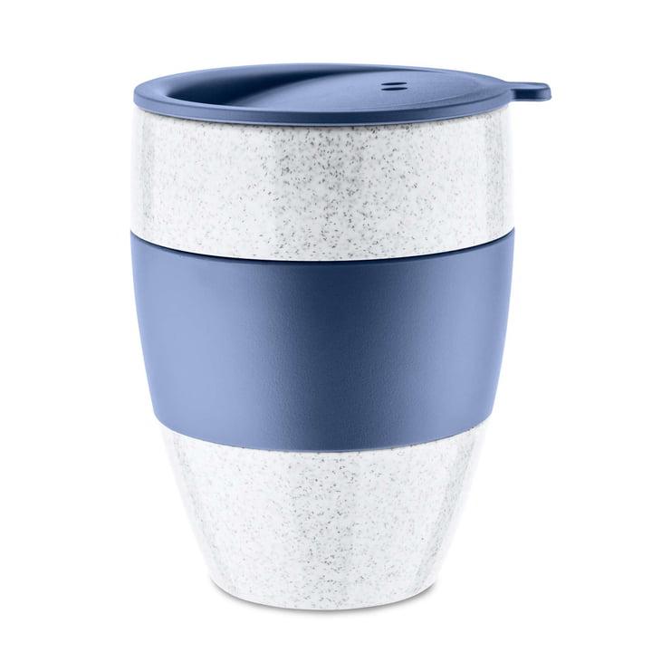 Aroma to go Thermobecher mit Deckel 400 ml von Koziol in organic blue