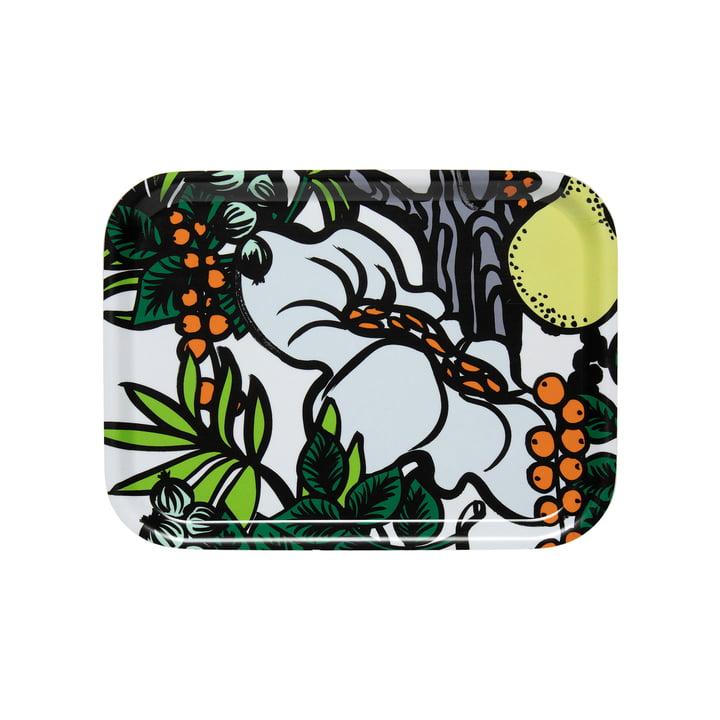 Pala Taivasta Tablett 27 x 20 cm von Marimekko in weiss / grün / orange / gelb