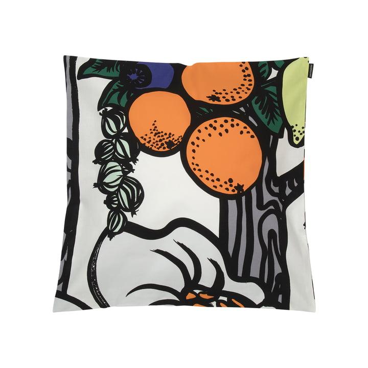 Pala Taivasta Kissenbezug 50 x 50 cm von Marimekko in weiss / orange / grün