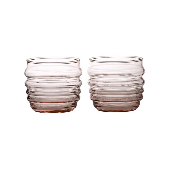 Sukat Makkaralla Wasserglas 200 ml von Marimekko in coral (2er-Set)