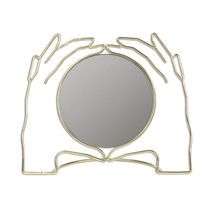 Xéria Tischspiegel, gold von Doiy