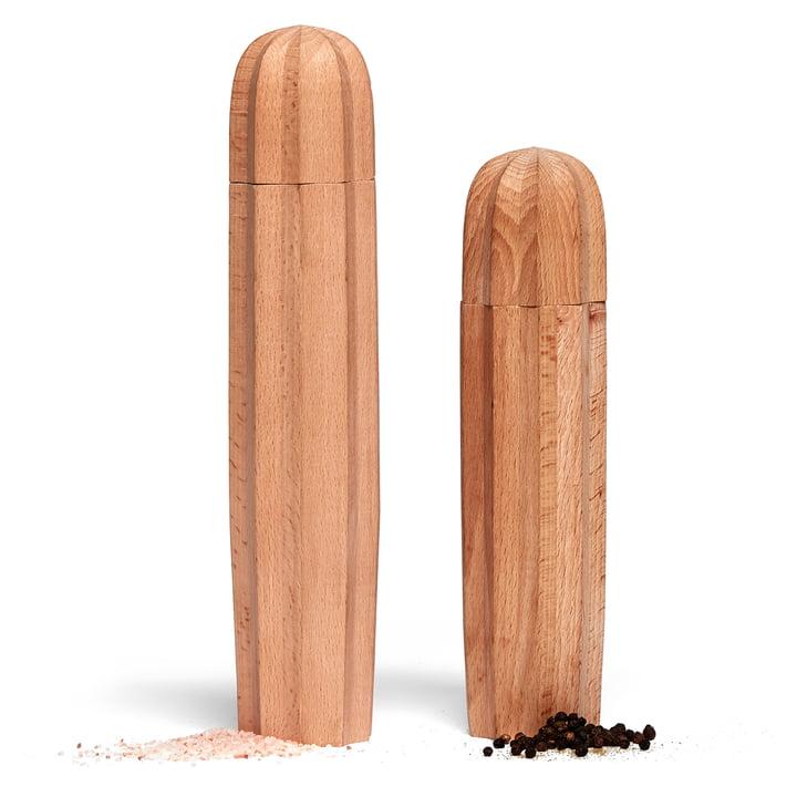 Cacti Salz- und Pfeffermühle (2er-Set), natur von Doiy