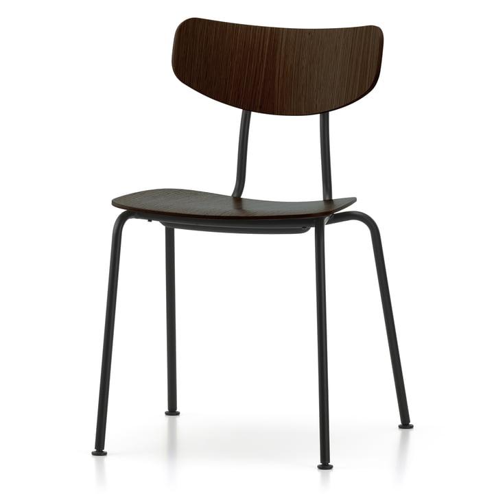 Moca Stuhl von Vitra in Eiche dunkel / schwarz
