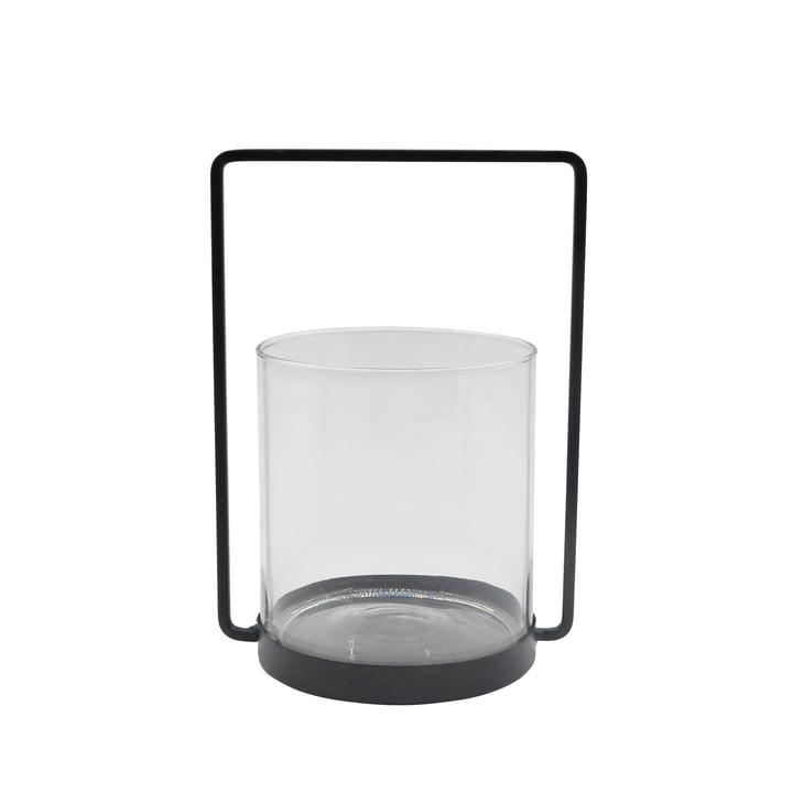 Das Windlicht Metall H 26 cm, schwarz aus der Connox Collection