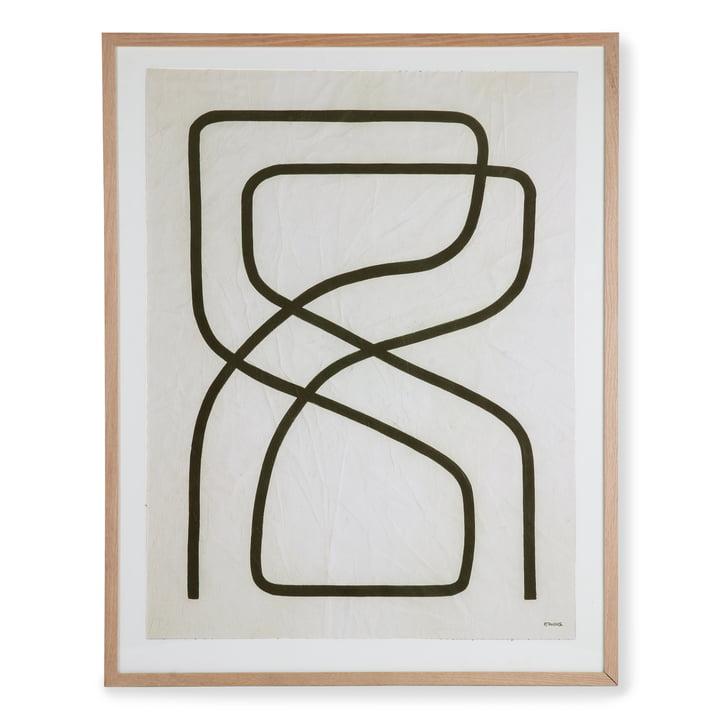 HKliving - Art Frame by Benjamin Ewing Bild (gerahmt), 75 x 95 cm, schwarz / weiss