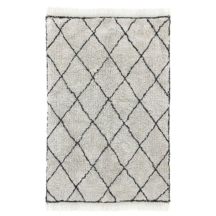 Diamond Teppich 120 x 180 cm von HKliving in weiss / schwarz