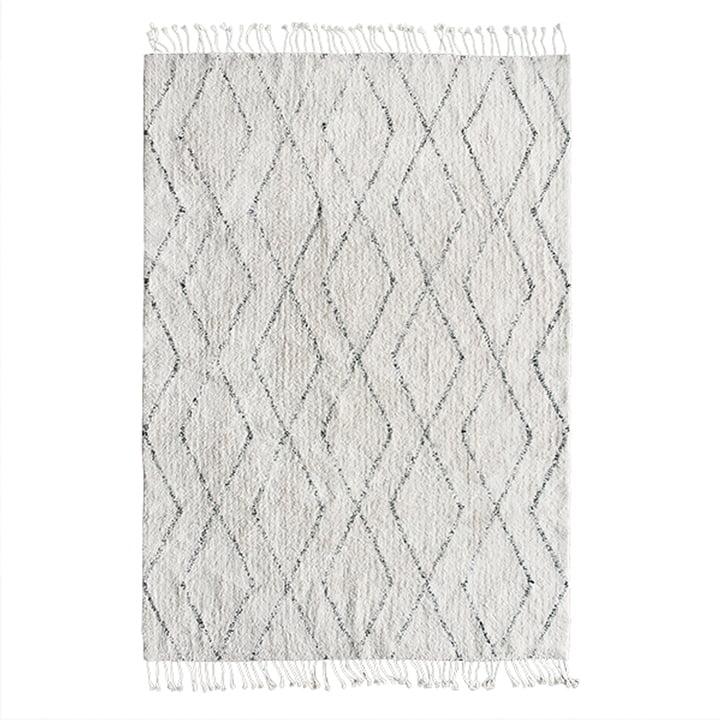 Berber Teppich 140 x 200 cm von HKliving in weiss / schwarz