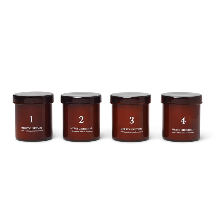 Scented Adventskerzen, rotbraun (4er-Set) von ferm Living