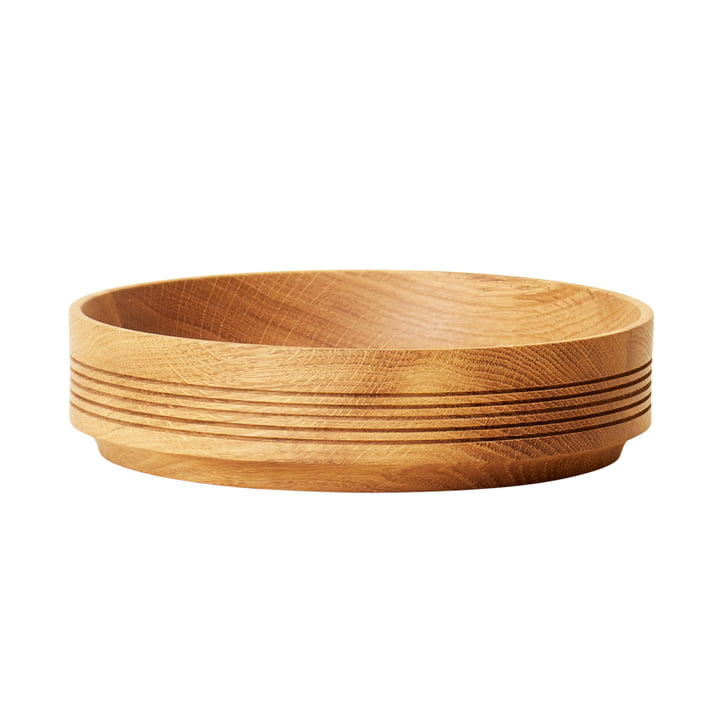 Section Holzschale, Ø 24 cm H 6 cm, Eiche von Form & Refine