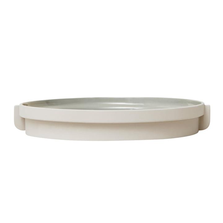 Alcoa Tablett, Ø 30 cm, Hellgrau von Form & Refine