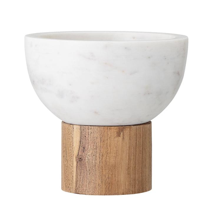 Marmor Servierschale, Ø 14,5 x H 14 cm, weiss von Bloomingville