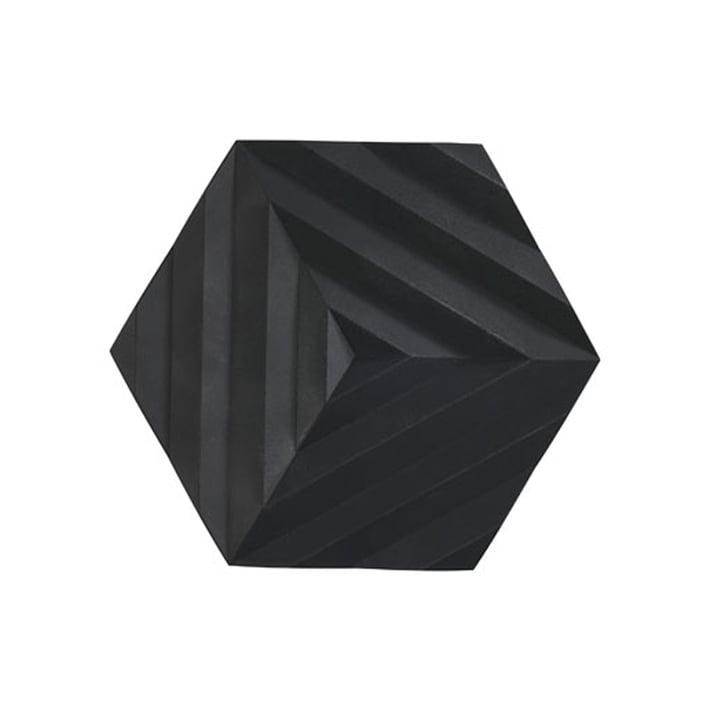 Ori Untersetzer, 16 x 14 cm, Fold / schwarz von Zone Denmark