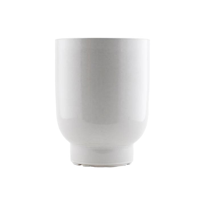Der Pot Blumentopf, Ø 20 x H 26 cm, weiss von House Doctor