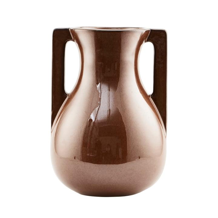 Die Vase Mississipi, Ø 21,5 x H 31 cm, braun von House Doctor