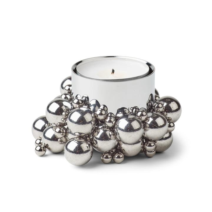 Molekyl Teelichthalter 1, Chrom von Gejst