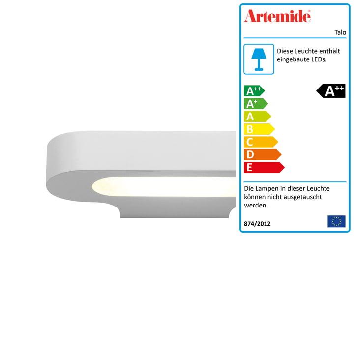 Talo LED-Wandleuchte, 2700K / weiss von Artemide
