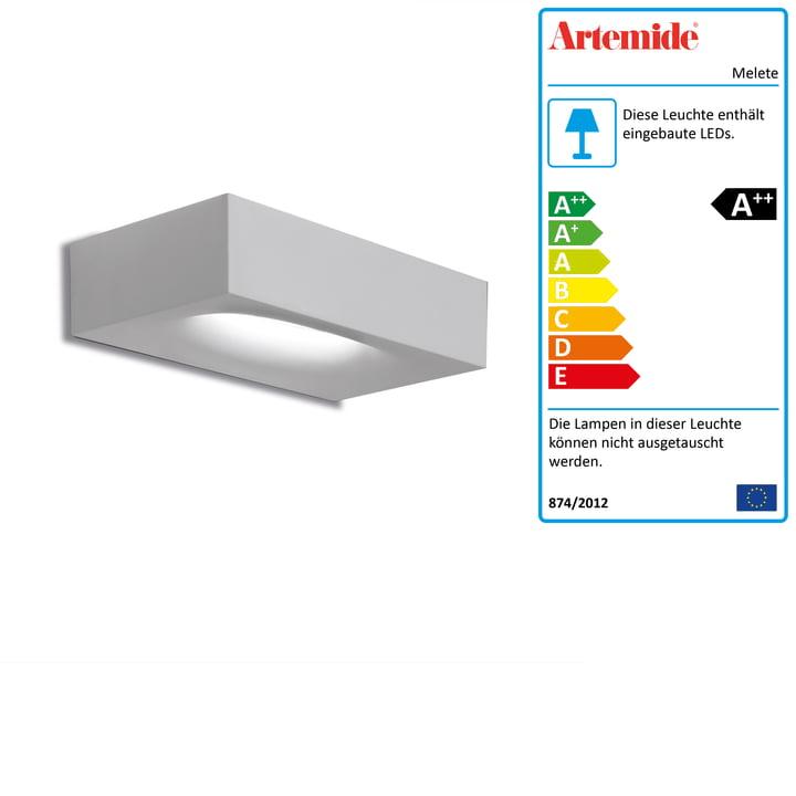 Melete LED-Wandleuchte, 2700K / weiss von Artemide