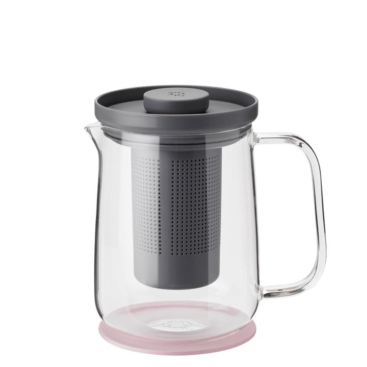 Brew-It Teebereiter 0,7 l, transparent / grau / rosa von Rig-Tig by Stelton