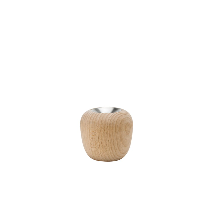 Der Ora Kerzenständer, Ø 7,4 x H 7 cm, Buche von Stelton