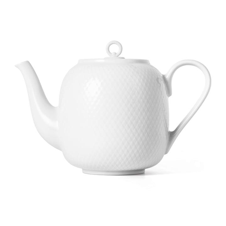Die Rhombe Teekanne, 1,9 l, weiss von Lyngby Porcelæn