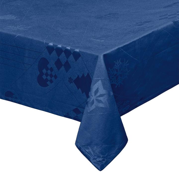 Natale Tischdecke 150 x 220 cm, blau von Juna