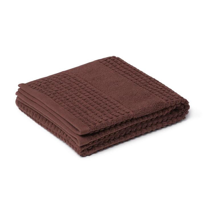 Check Handtuch 50 x 100 cm, chocolate von Juna