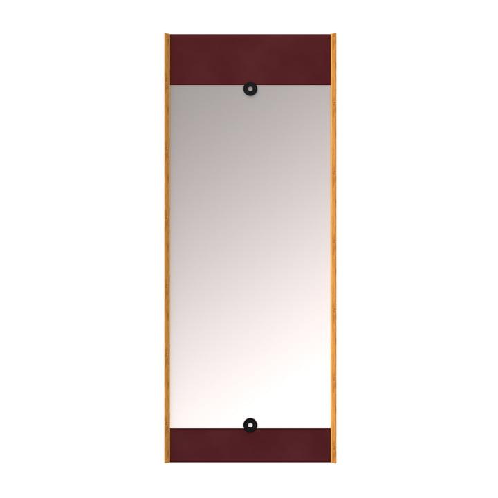 Der Layer Wandspiegel, burgunderrot von We Do Wood