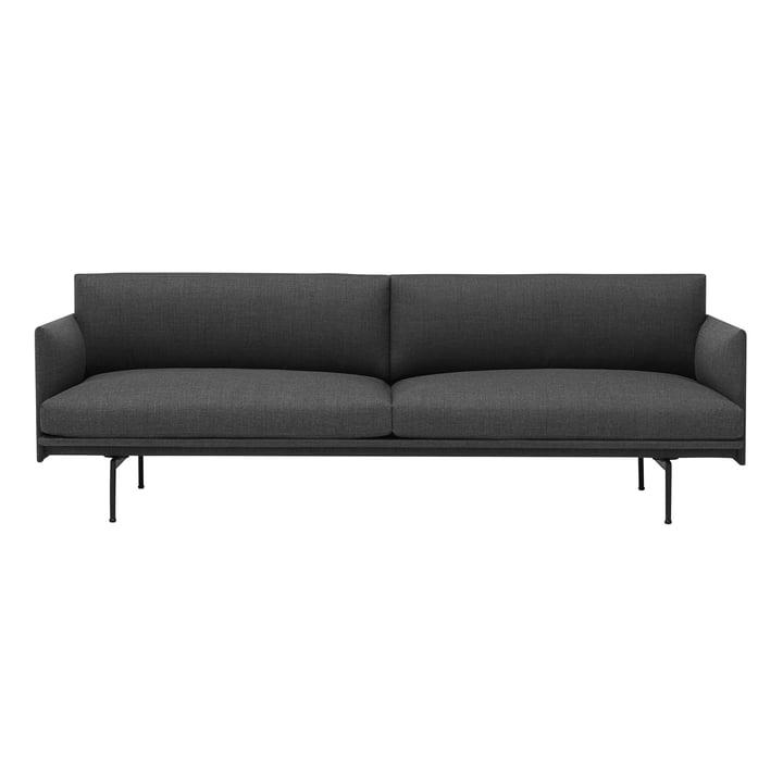 Das Outline Sofa 3-Sitzer von Muuto in grau