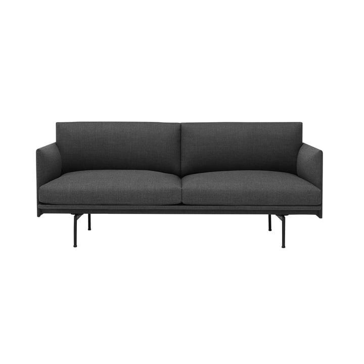 Das Outline Sofa 2-Sitzer von Muuto in grau