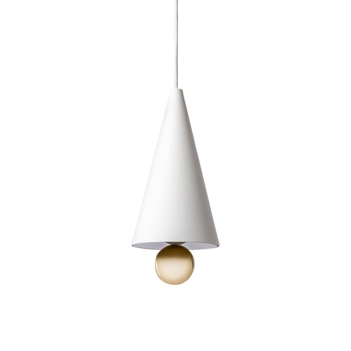 Cherry Pendelleuchte small von Petite Friture in Weiss / Gold