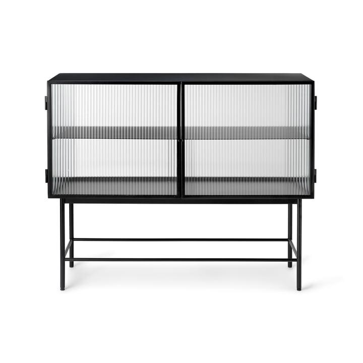 Das Haze Sideboard von ferm Living in Reeded Glas, schwarz