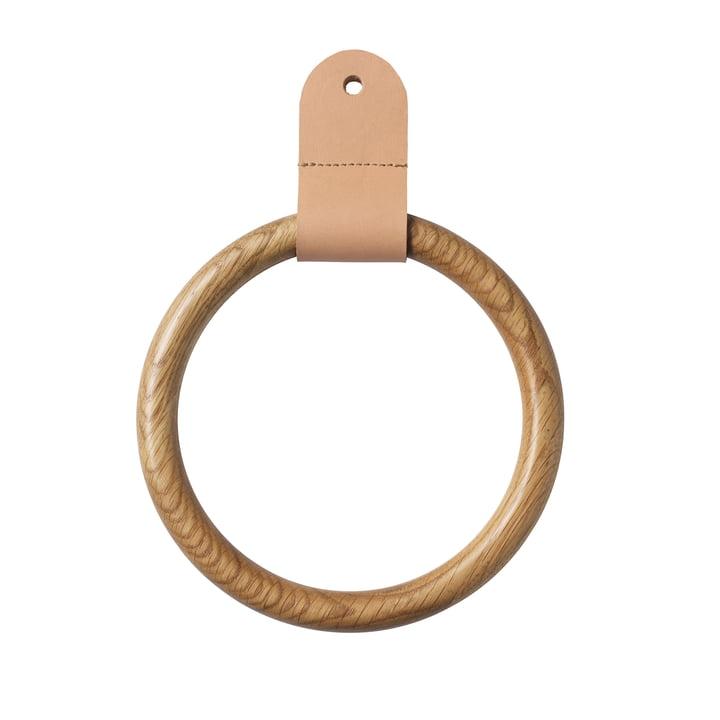 Der Q4 Allé Ring von FDB Møbler für Wandgarderobe in Eiche natur