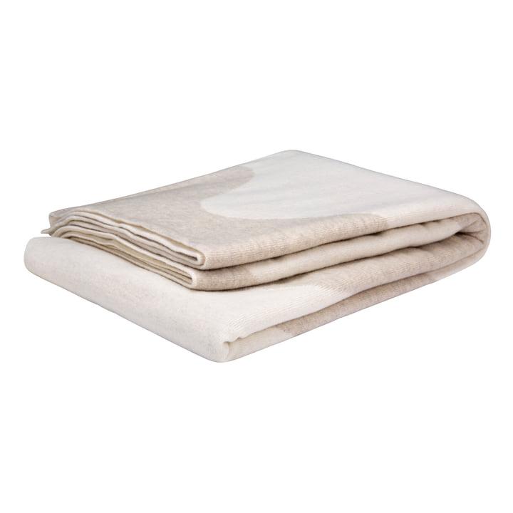 Die Lokki Wolldecke von Marimekko in weiss / beige
