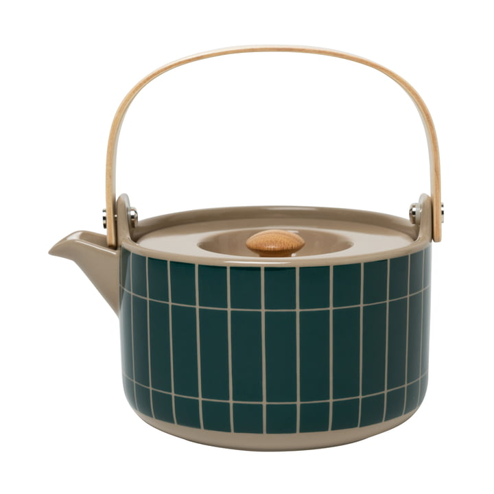 Die Tiiliskivi Teekanne von Marimekko in terra / dunkelgrün