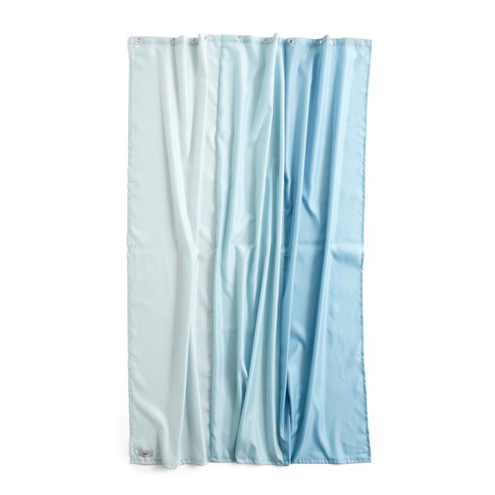 Aquarelle Duschvorhang, 200 x 180 cm, vertical ice blue von Hay