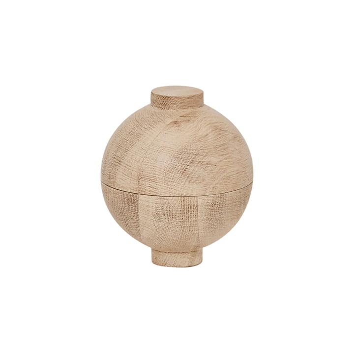 Wooden Sphere Aufbewahrung Ø 12 x H 15 cm, Eiche von Kristina Dam Studio