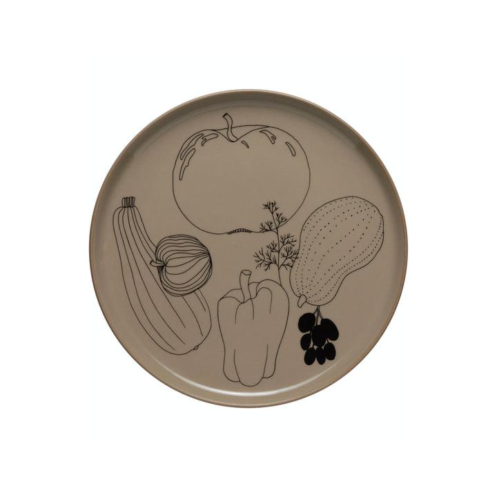 Der Tarhuri Teller von Marimekko, Ø 20 cm, terra / schwarz