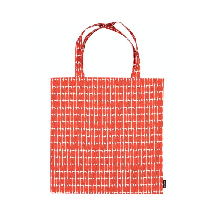 Die Alku Einkaufstasche von Marimekko, weiss / rot