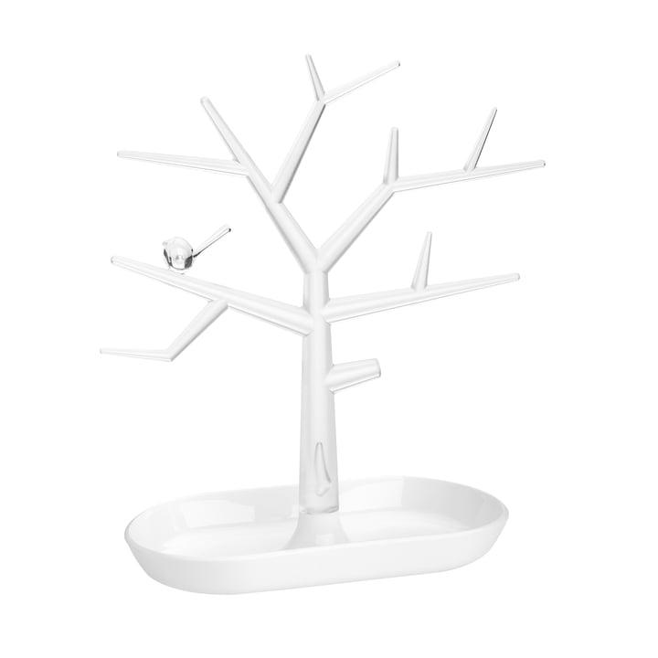 Der [pi:p] M Schmuckbaum von Koziol, crystal clear / cotton white