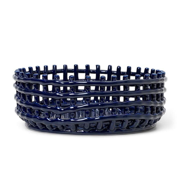 Das Keramik Centerpiece von ferm Living in blau